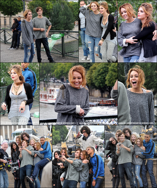 "___________________________________________________________________________________________________________________________________ ___ Miley, Ashley et le cast de "" LOL "" tournant une scène dans Paris ! __'_________________________  Ashley et Miley on l'air vraiment complice ! J'adore les photos (l) __________________________________ _____________________________________________________________"