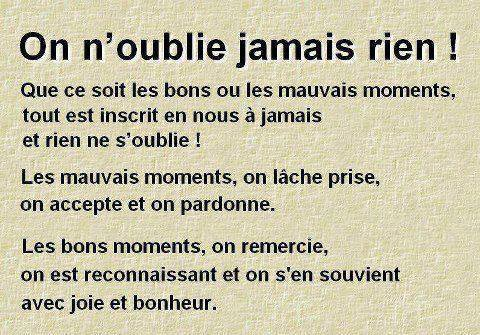 On n'oublie rien ...