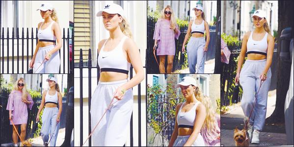 ♦♦ 17 AOUT 2018  Perrie Edwards a été photographiée avec Ellie alors qu'elle était en train de promener Hatchi, dans Londres..