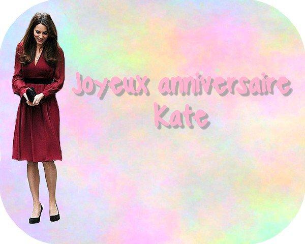 Joyeux anniversaire Kate Middelton