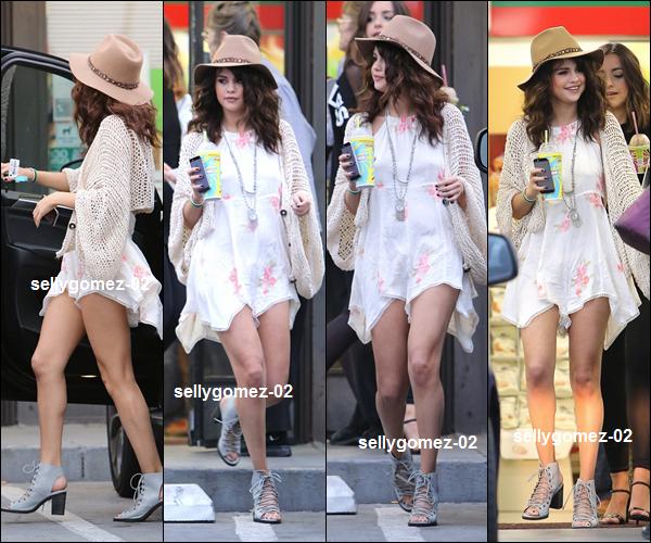 flash-back - le 25 avril 2014 - Selena arrivait dans un studio d'enregistrement, Los Angeles