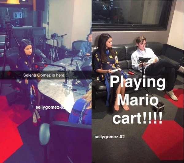 le 17 juillet 2015 - Selena jouer Mario panier tout en étant interviewé par Zach Sang & The Gang à Hollywood, en Californie