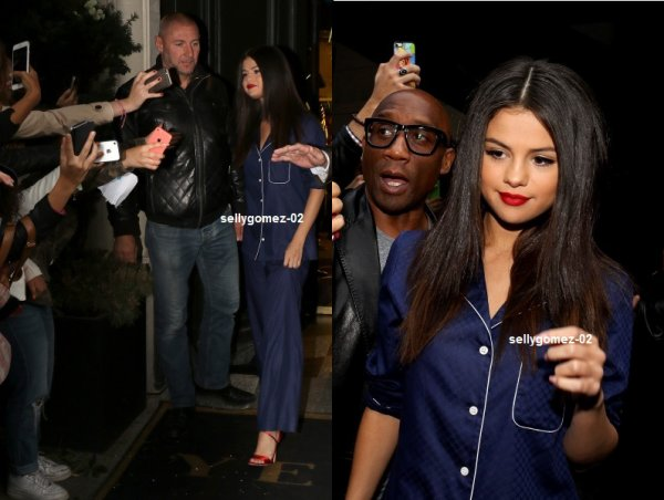 le 26 septembre 2015 - selena Laissant un studio d'enregistrement à Paris, France