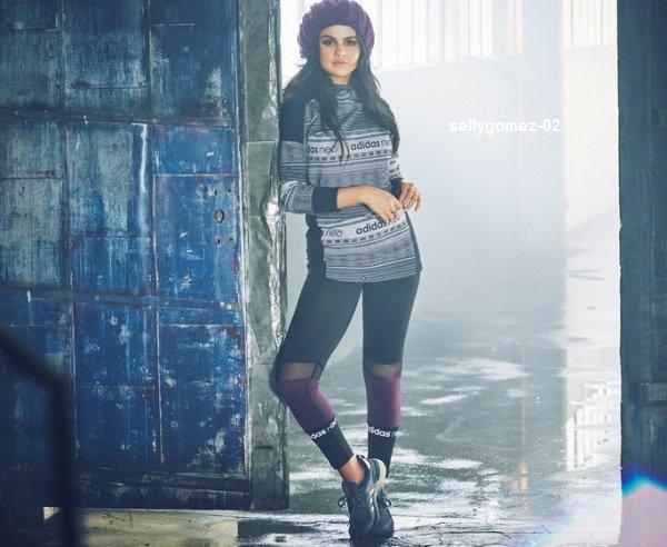 voici une nouvelle photo de selena pour le shoot  adidas neo