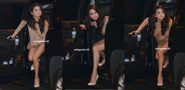 le 12 octobre 20105 - Selena arrivant à l'hôtel Greenwich à New York City, NY