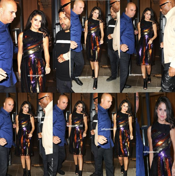le 14 octobre 2015 - Selena laissant The Tonight Show Starring Jimmy Fallon à New York City, NY