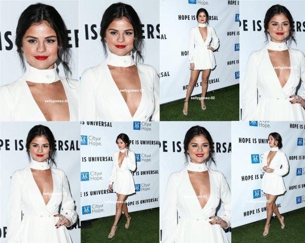 le 5 novembre 2015 - Selena assister à l'Esprit de vie Gala organisé par la ville de Hope à Santa Monica, en Californie