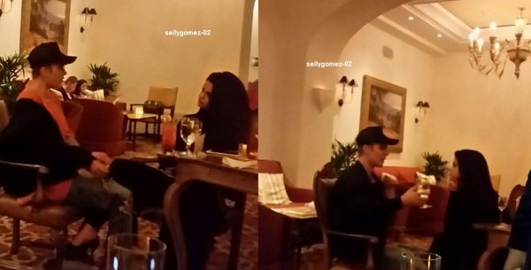 le 20 novembre 2015 - Selena avec Justin Bieber au Montage de Beverly Hills Hôtel à Beverly Hills, CA