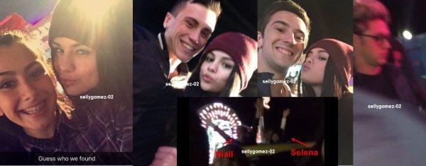 le 5 decembre 2015 - selena et niall aux montagnes russes à la jetée de Santa Monica