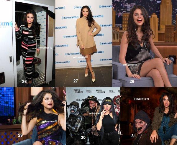 voici des sorties de Selena durant cette année 2015.