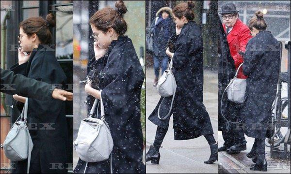 le 08 février 2016 - Selena quittant son hôtel à New York