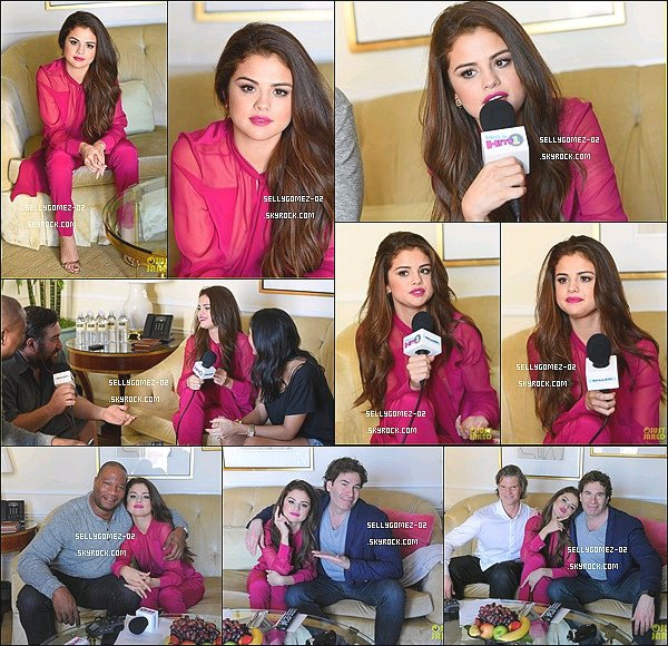 le 12 février 2016 - Selena a donné une interview au The Morning Mash Up à Beverly Hills