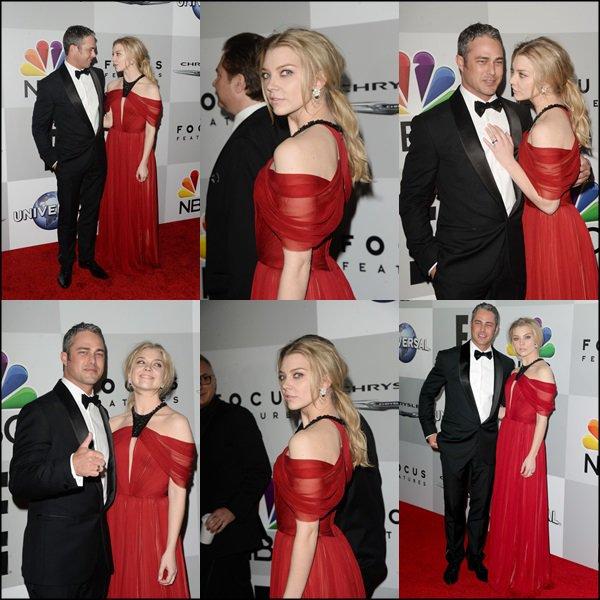 Taylor Kinney et Natalie Dormer assistent à Universal, NBC, Focus Features et E! Divertissement Golden Globe Awards After Party parrainé par Chrysler au Beverly Hilton Hotel