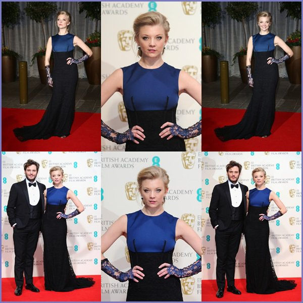 ● Natalie Dormer pose dans la salle des gagnants au EE British Academy Film Awards au Royal Opera House !