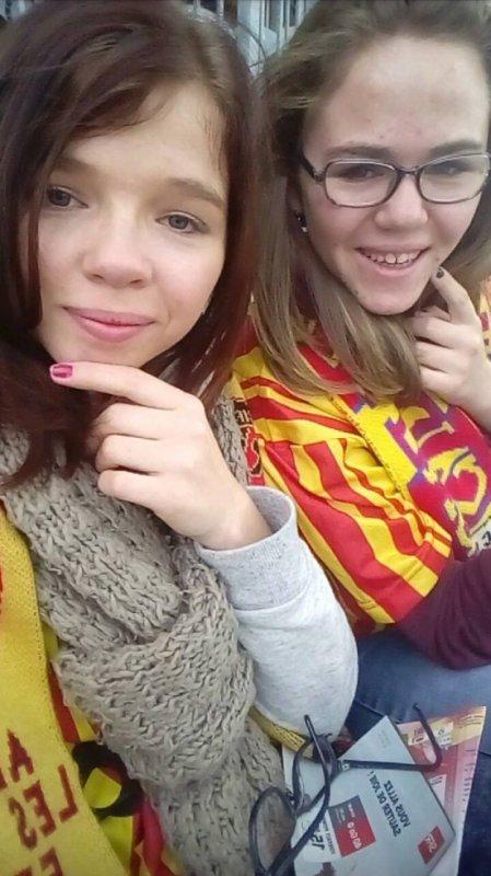Nous deux lors d'un match de foot ;)
