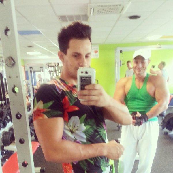 Moi au gym