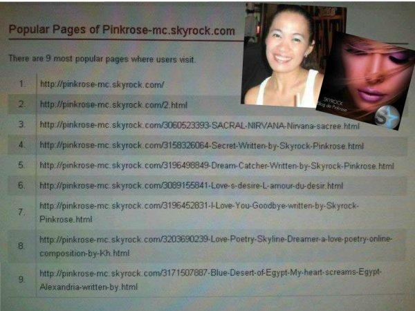 SKYROCK PINKROSE -- A Blogguer / Poetess