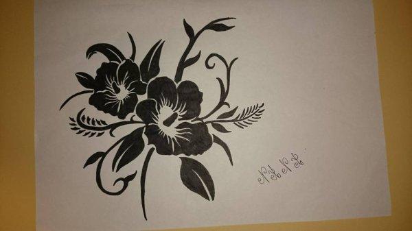 fleur tribal