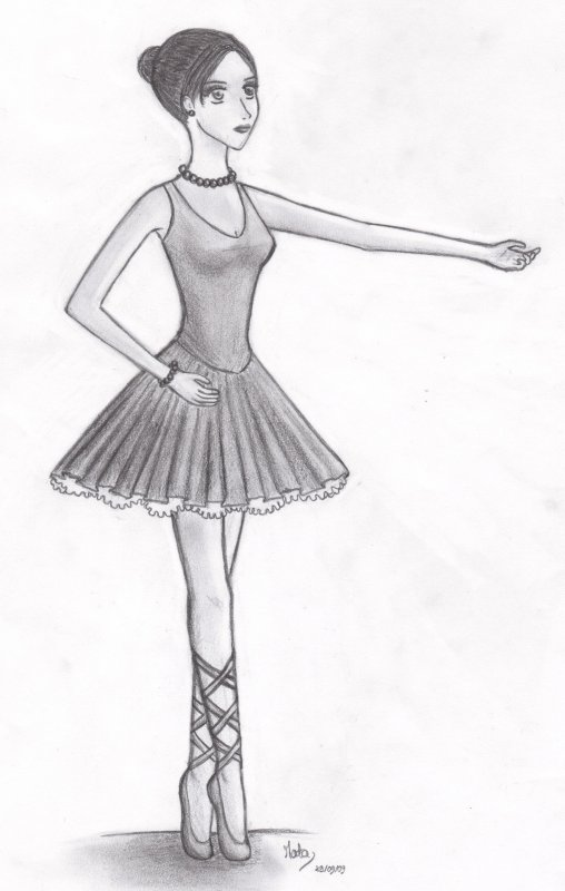 Danseuse my draw ing z by mata - Danseuse dessin ...