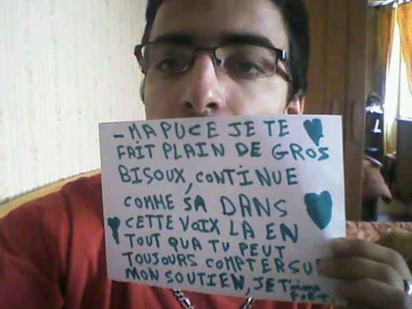 TIEN MA PUCE POUR TOI UNE PETITE DEDICACES RIEN QUE POUR TOI FAITE AVEC LE COEUR !!!!
