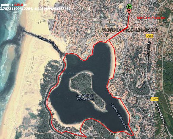 Tour du Lac de Vieux Boucau (40480)