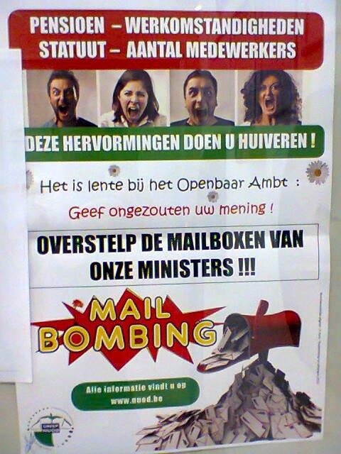 La Revolte Belge se fait par mails
