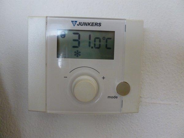 31 degrés à 8h du matin (à l'intérieur !)