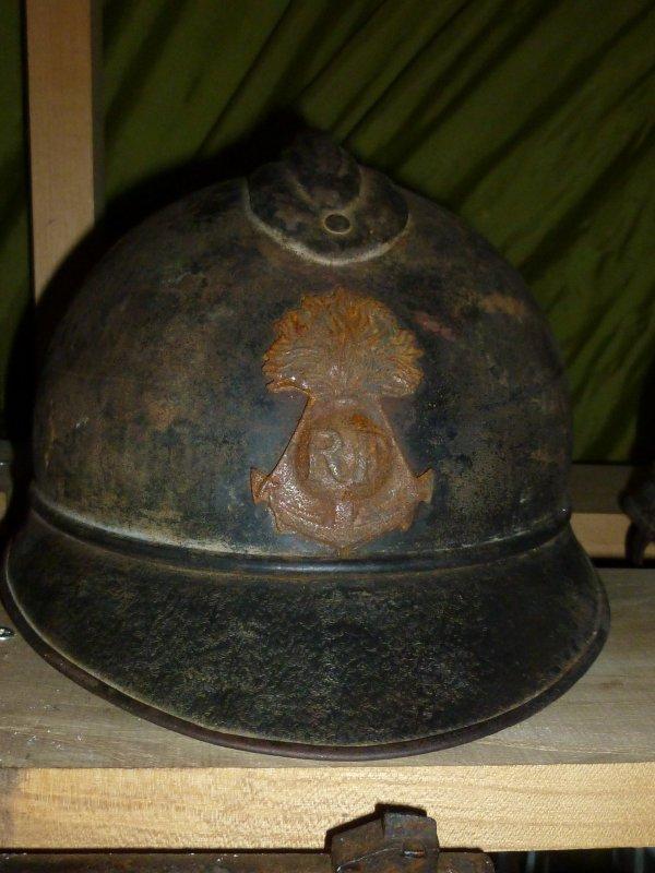 Casque adrian modèle 1915 infanterie de marine.