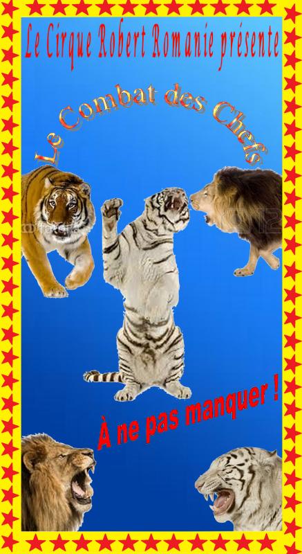 Une des nouvelles affiches du cirque avec son nouveau spectacle !!!