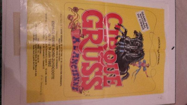 Affiche Alexis Gruss, La fête Lilloise du cirque, Bouglione,....