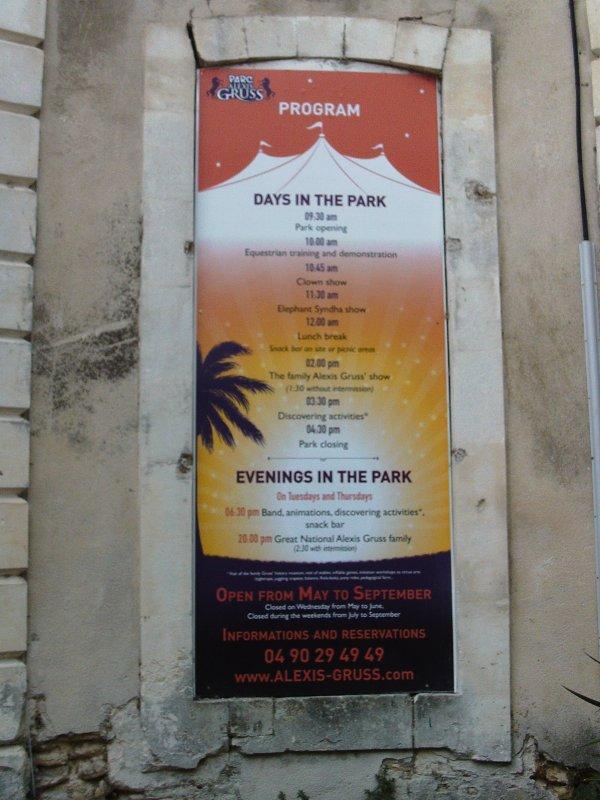 Visite annuelle au Parc Alexis Gruss à Piolenc (Vaucluse) !!! 6