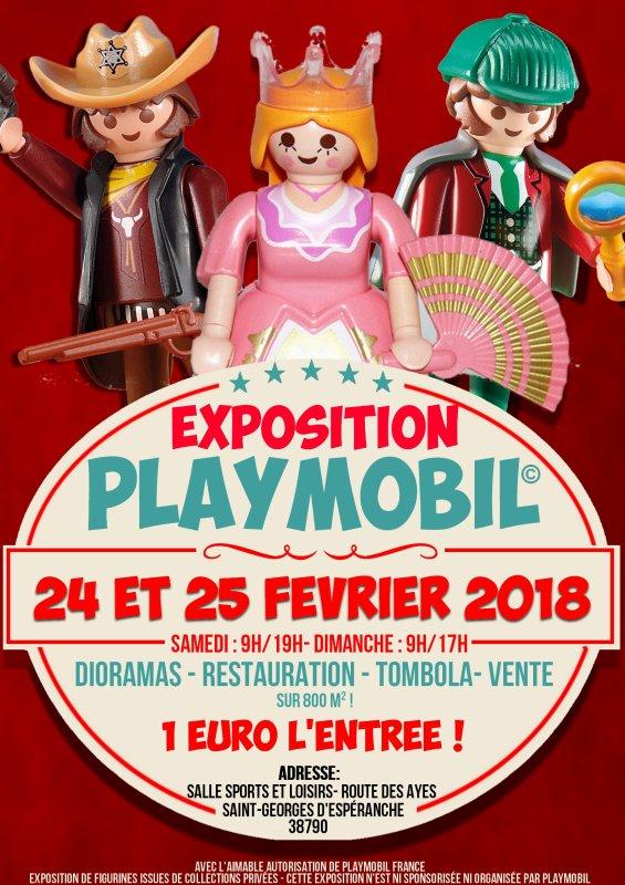 Deuxième exposition Playmobil à St-Georges d'Espéranche les 24 et 25 février 2018 !!!