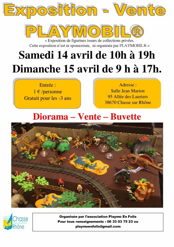 Exposition Playmobil Chasse sûr Rhône !!!