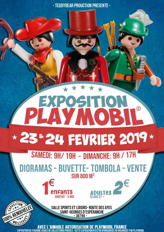 Exposition Playmobil les 23 et 24 février à ST-Georges d'Espéranche