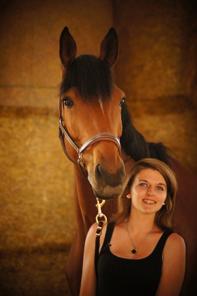 Mon cheval est un véritable mannequin