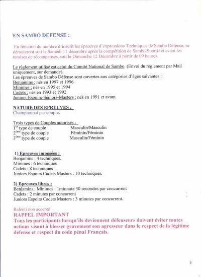2)10ème Open de Sambo du Caen Etudiants Club les 11 et 12 Décembre 2010