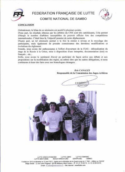 Séminaire International d'Arbitrage ( F I A S) du 08 au 13 avril en Grèce