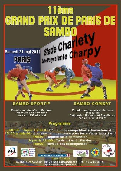 11 éme Grand Prix de Paris de Sambo