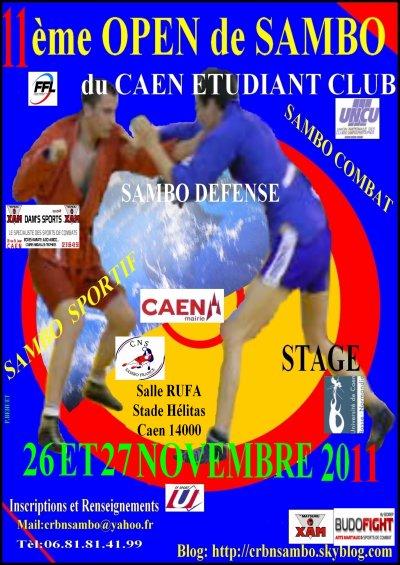 11 ème Open de Sambo 26 Novembre 2011