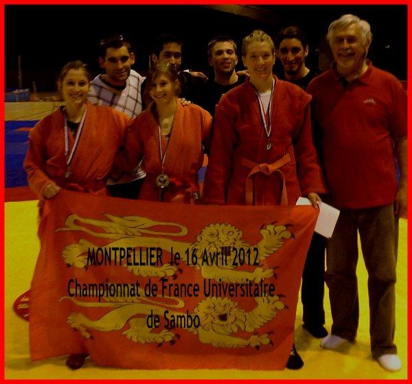 Championnat de France Universitaire de Sambo Sportif à Monpellier le 16 mars 2012
