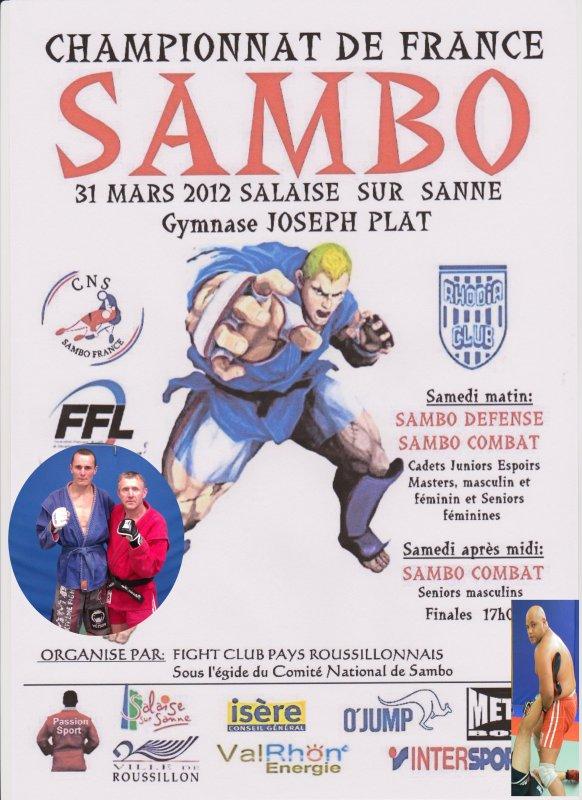 Championnats de France de Sambo Combat le 31 Mars 2012 à Salaise sur Sanne (38)