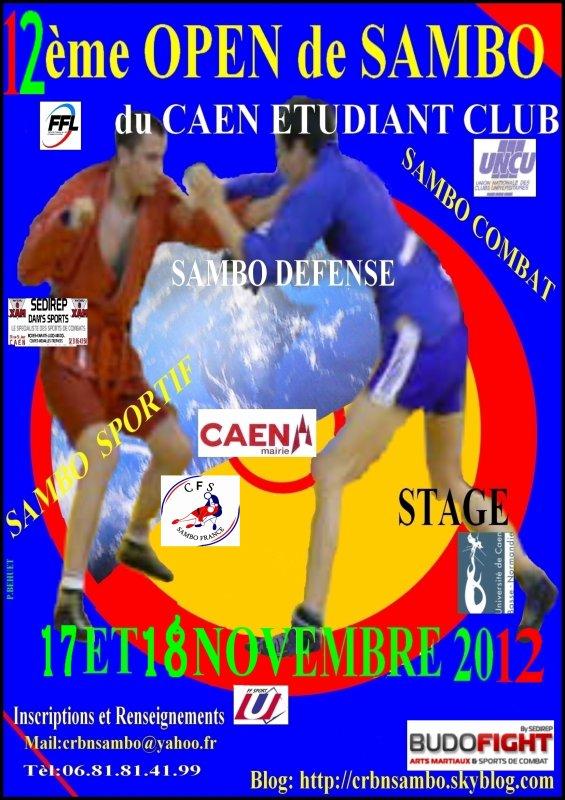 12ème Open de Sambo 17 et 18 Novembre 2012 à Caen