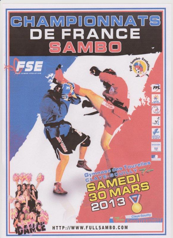 Championnats de France de Sambo Combat et Défense le 30 Mars 2013 à CLAYE-SOUILLY 77
