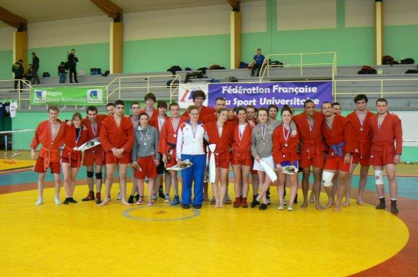 Classement de la Coupe de France Universitaire de Sambo le 11 Avril 2013 à Houlgate 14