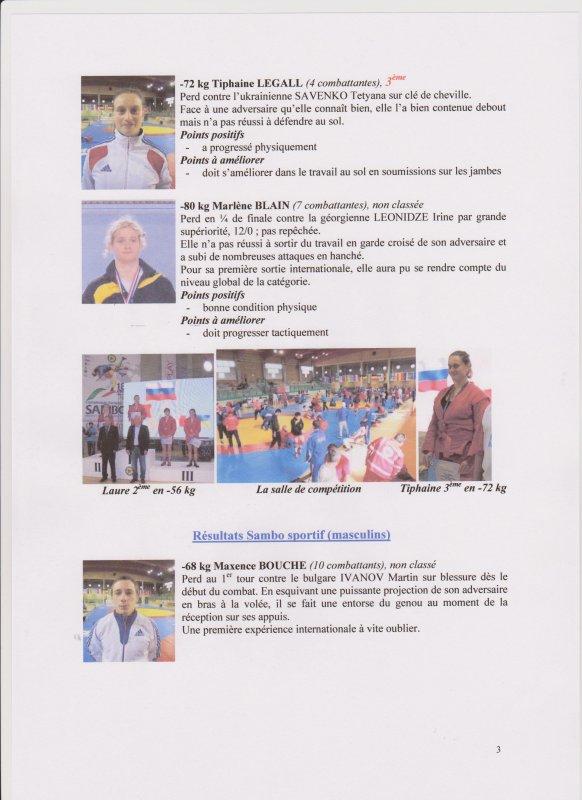Championnat d'Europe Seniors de Sambo Sportif et Sambo Combat du 17 au 21 Mai 2013 à CRÉMA ( ITALIE)