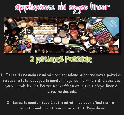 ᘛ Comment appliquez votre eye-liner