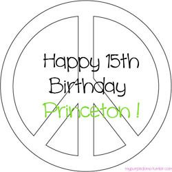Happy BDAY Princeton again