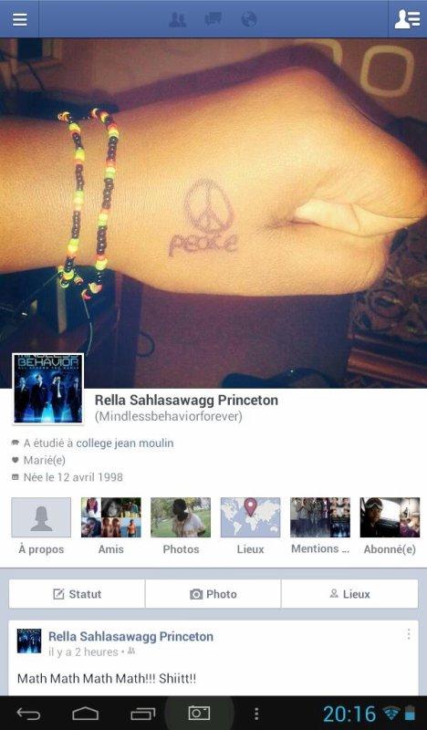 Voici mon Facebook pour celles qui on pas de twitter!!