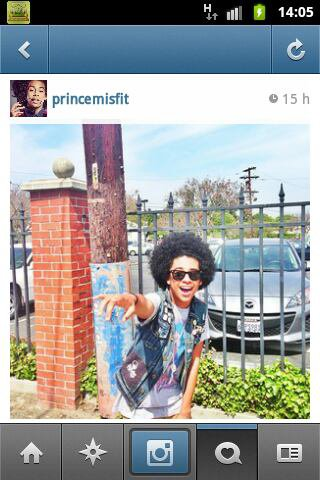Prince apré le coiffeur sa donne ça!