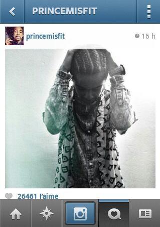Prince a fait des nates coller !!